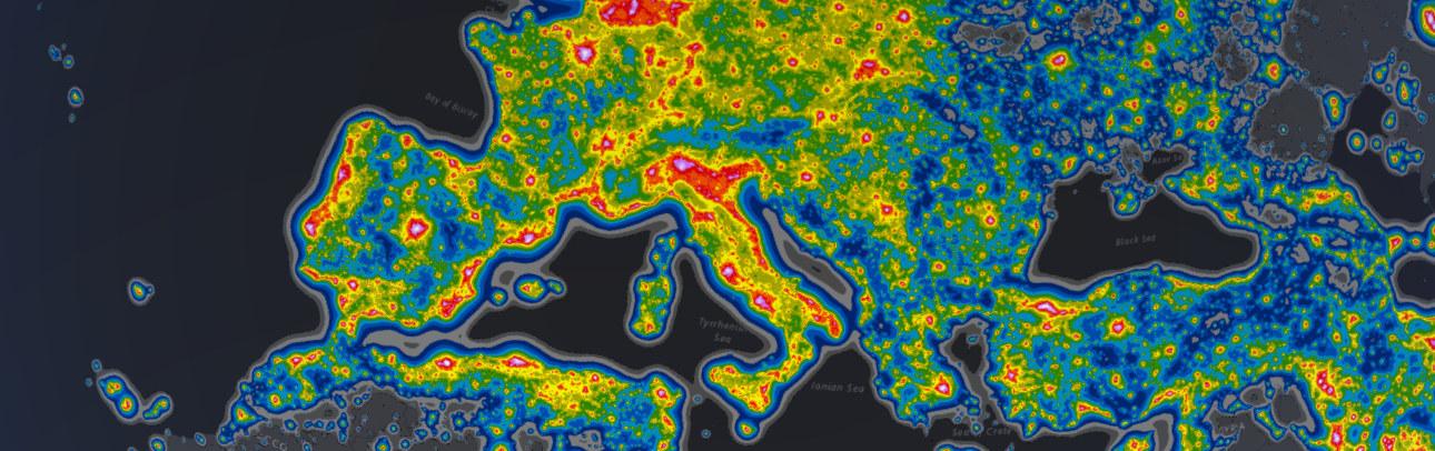 Lichtverschmutzungs-Karten Deutschland/Europa