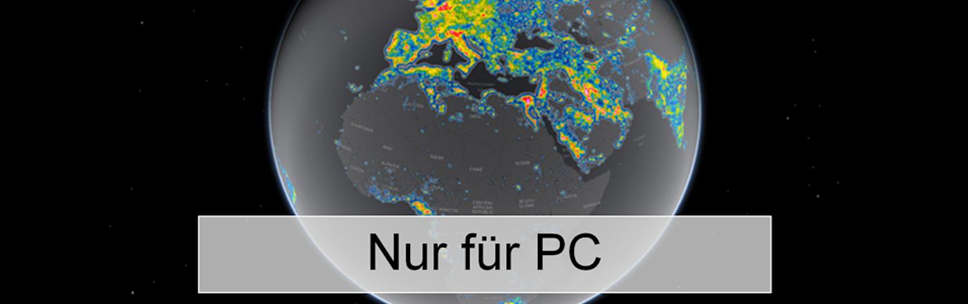 Lichtverschmutzungskarte Europa/Deutschland/Welt, 2016 Falchi für PC
